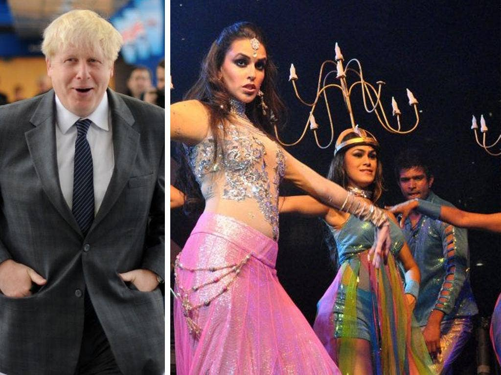 Mr Johnson insisted it was his duty to  help London businesses by breaking down doors in India