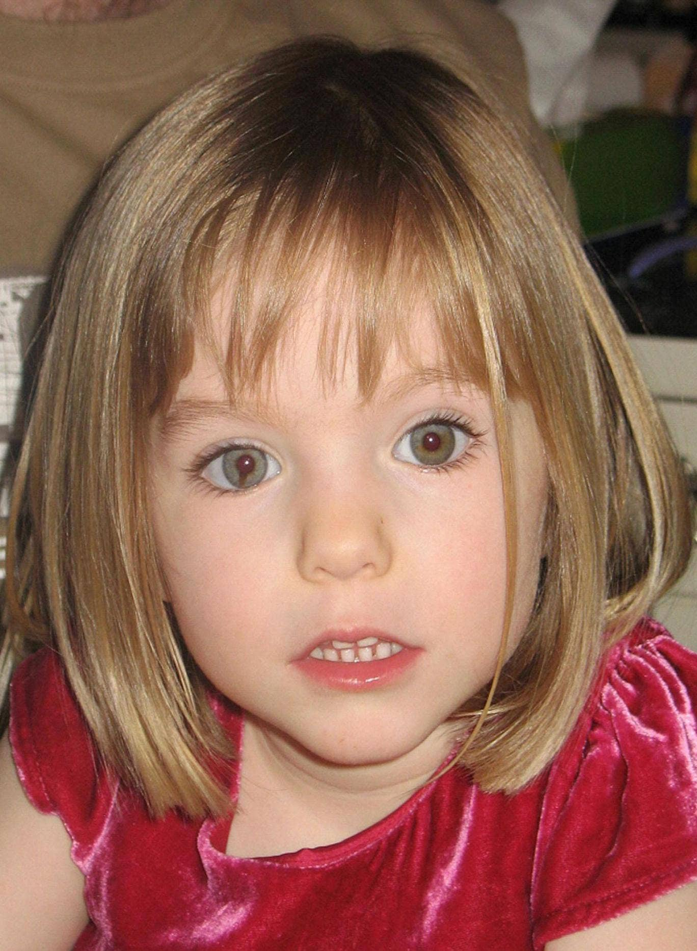 Madeleine McCann, who disappeared in the Praia de Lux resort in Portugal