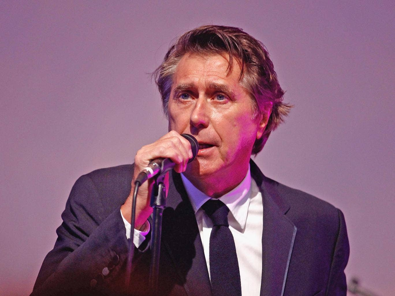 Singer Bryan Ferry performs on stage