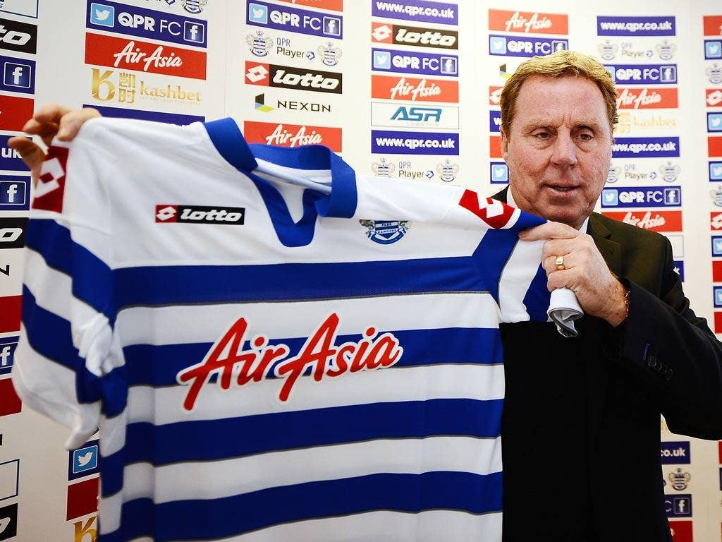 Harry Redknapp is unveiled as QPR manager