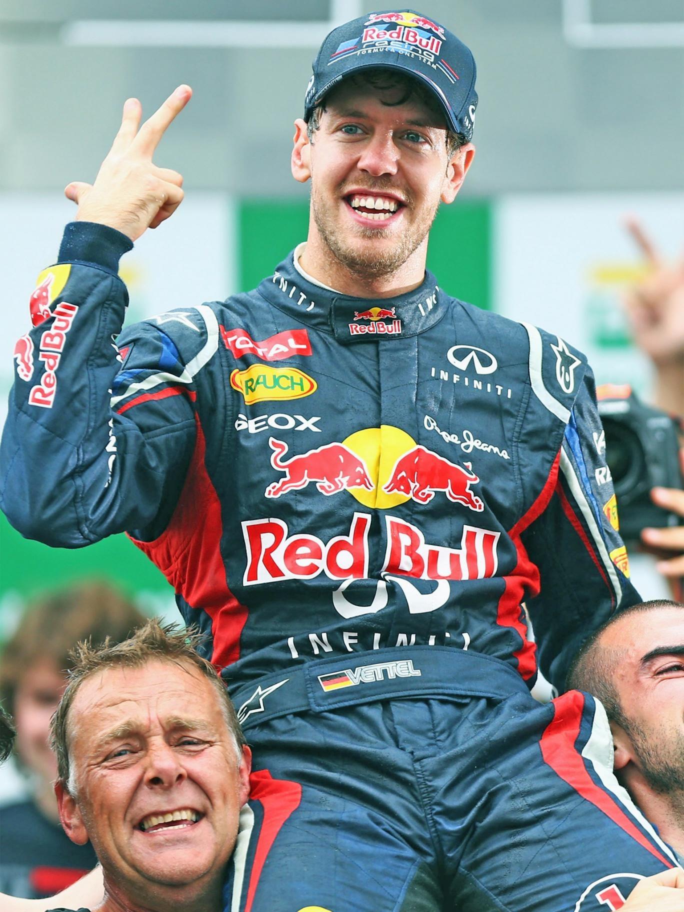 Sebastian Vettel, of Red Bull, again proved Alonso's nemesis