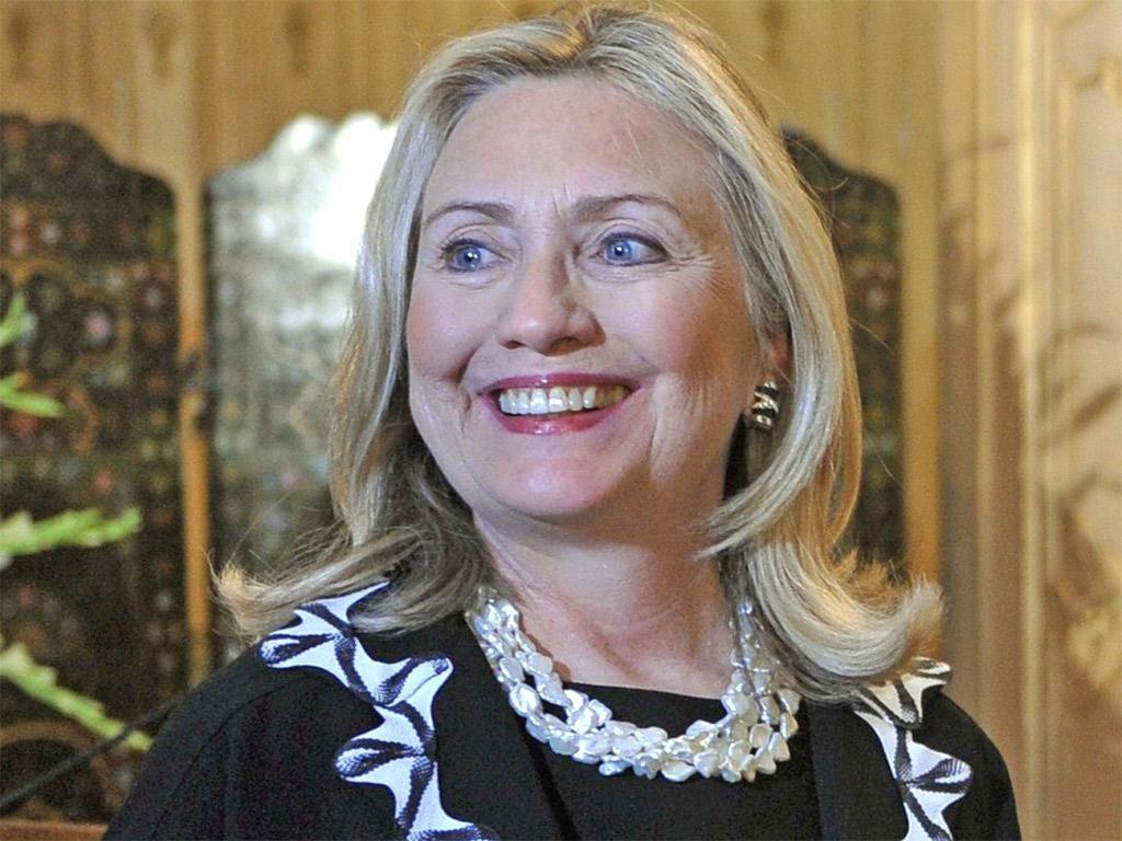 Hillary Clinton in Egypt last week