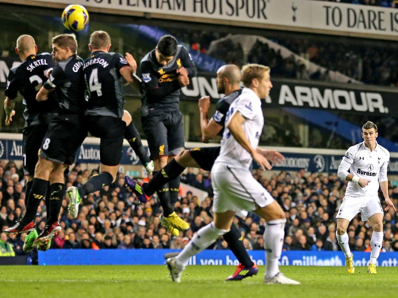 Gareth Bale scores Tottenham's second goal last night