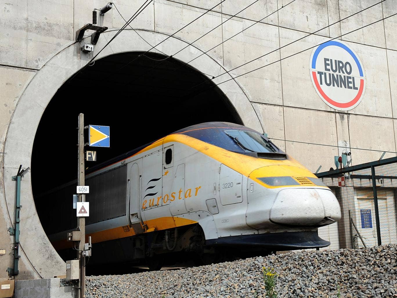 Eurostar train services between London and Paris and Brussels were also unable to pass through the tunnel