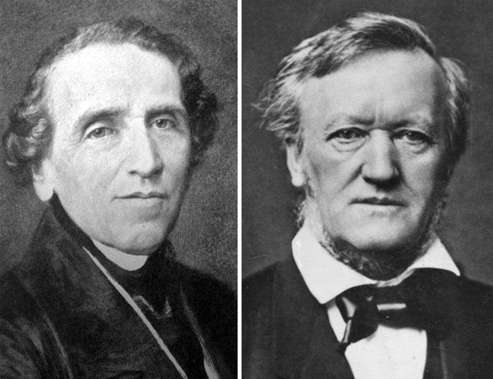 Bitter rivals: Giacomo Meyerbeer (1791-1864) (left), and Wilhelm Richard Wagner (1813-1883)
