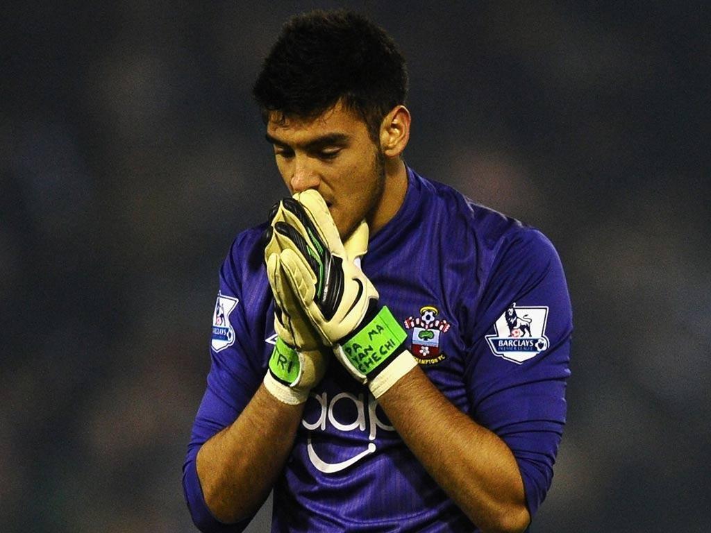 Southampton goalkeeper Paulo Gazzaniga