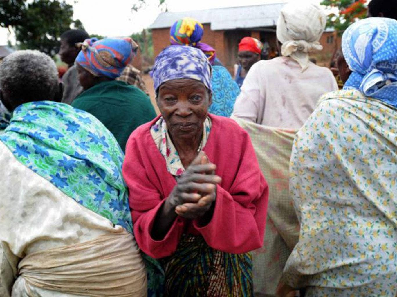 Elderly women in Kasarika, a village with one of the highest rates of HIV in Malawi