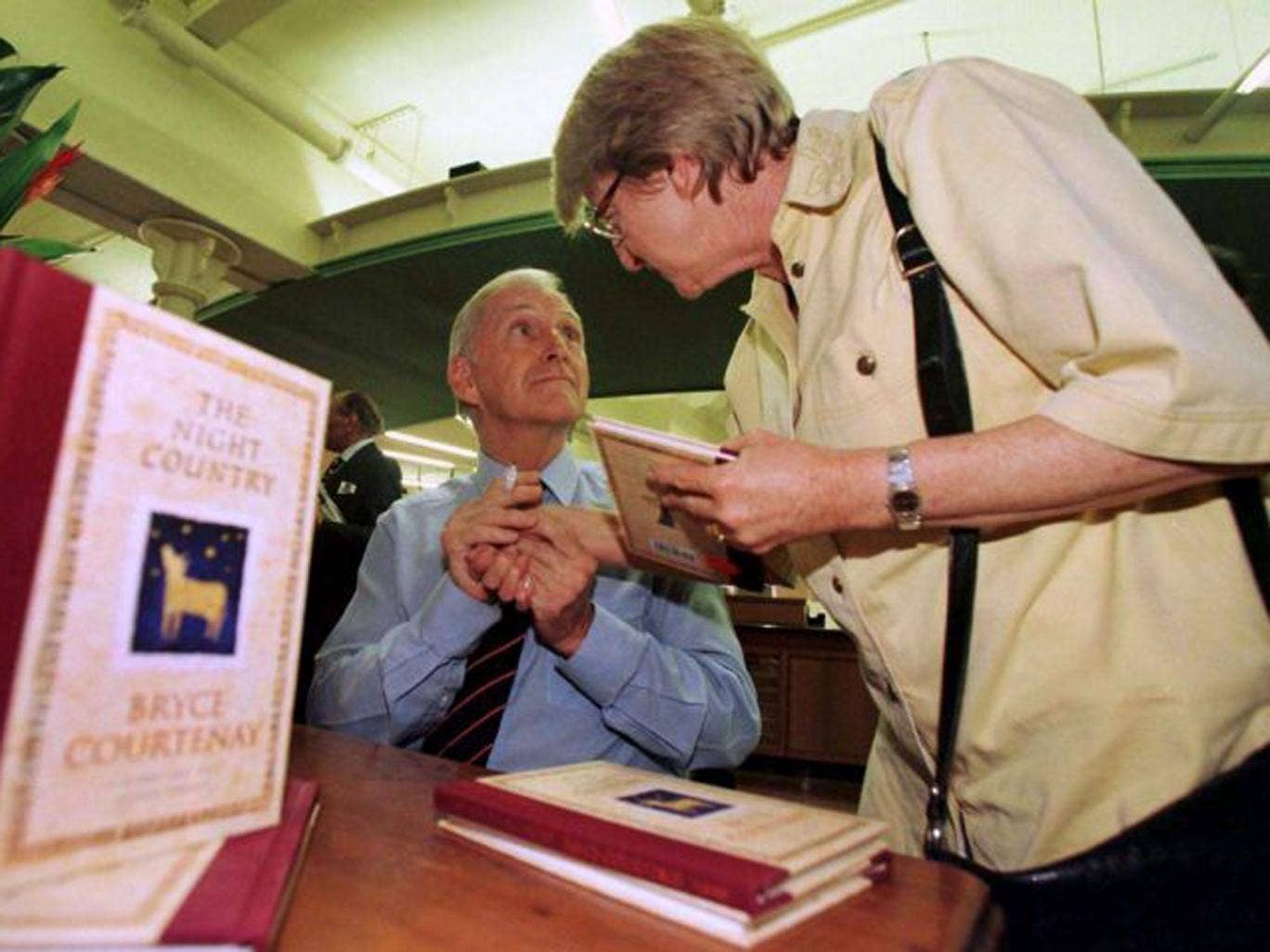 Courtenay, above in 1998, was always gracious with fans, and assiduous in promoting his work