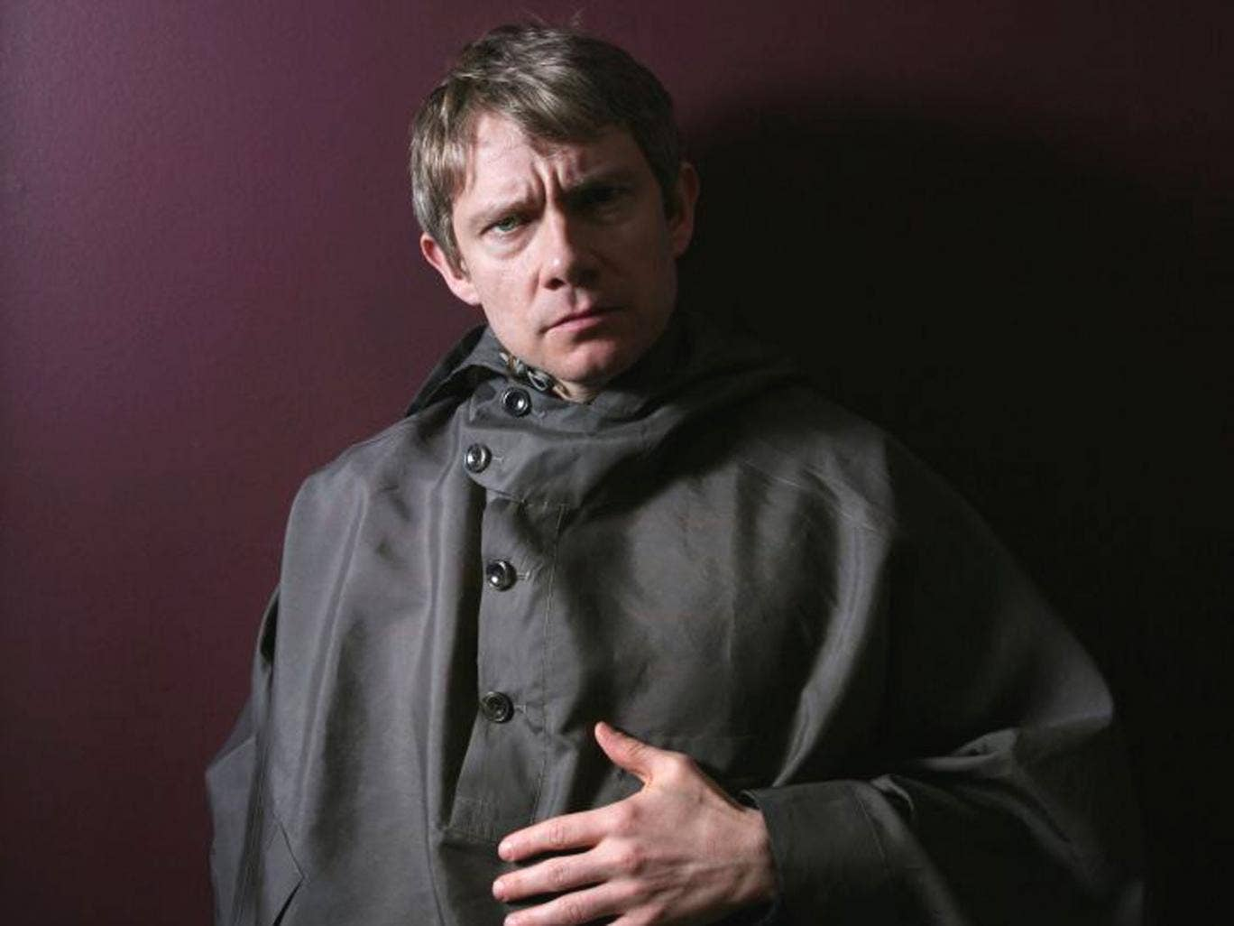 Don't call me Everyman: Martin Freeman 'finds a sort of poetry in the ordinary man', says writer Steven Moffat; inset, as Bilbo Baggins