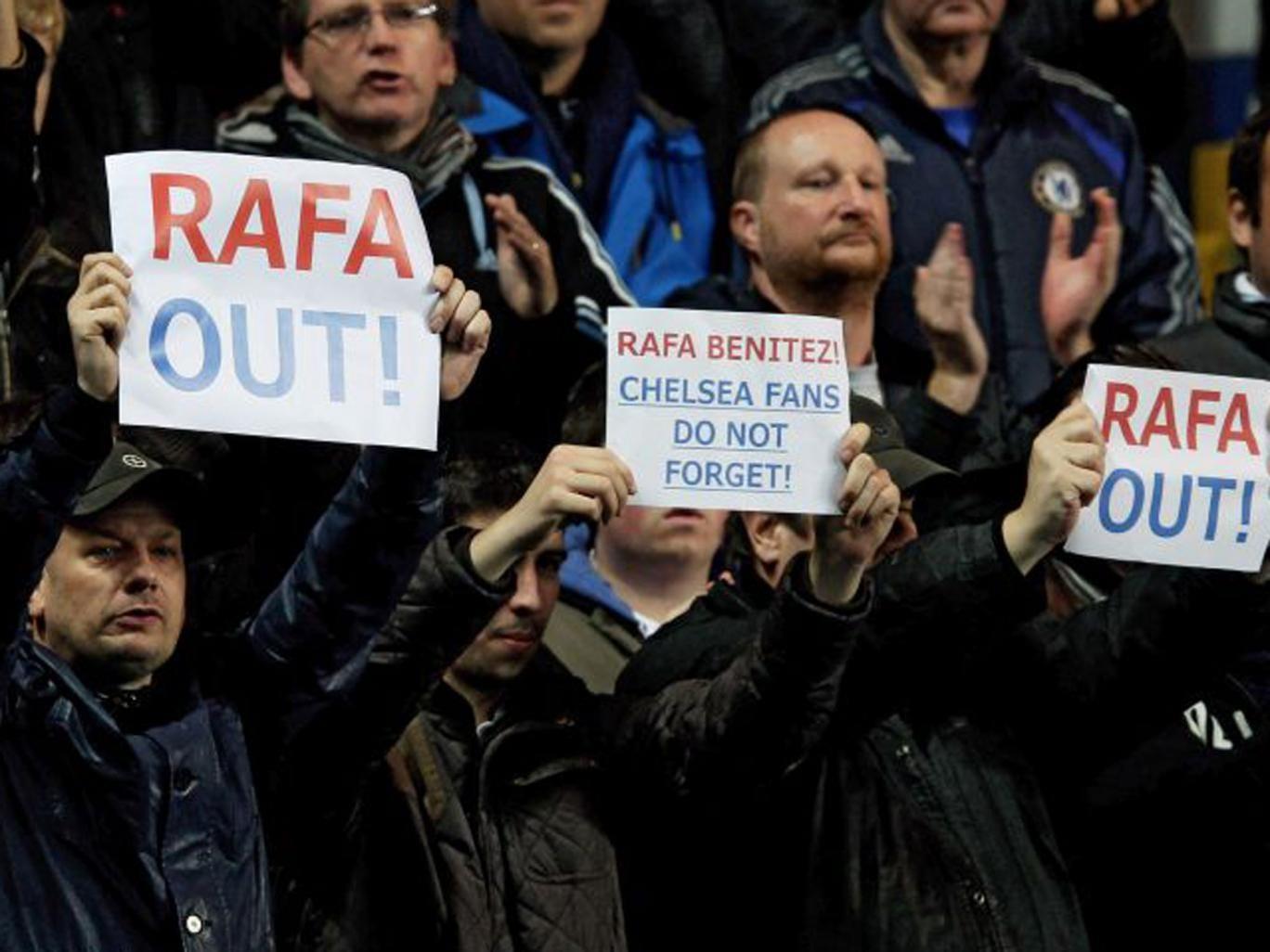 Rafael Benitez received a warm welcome from Chelsea fans last week