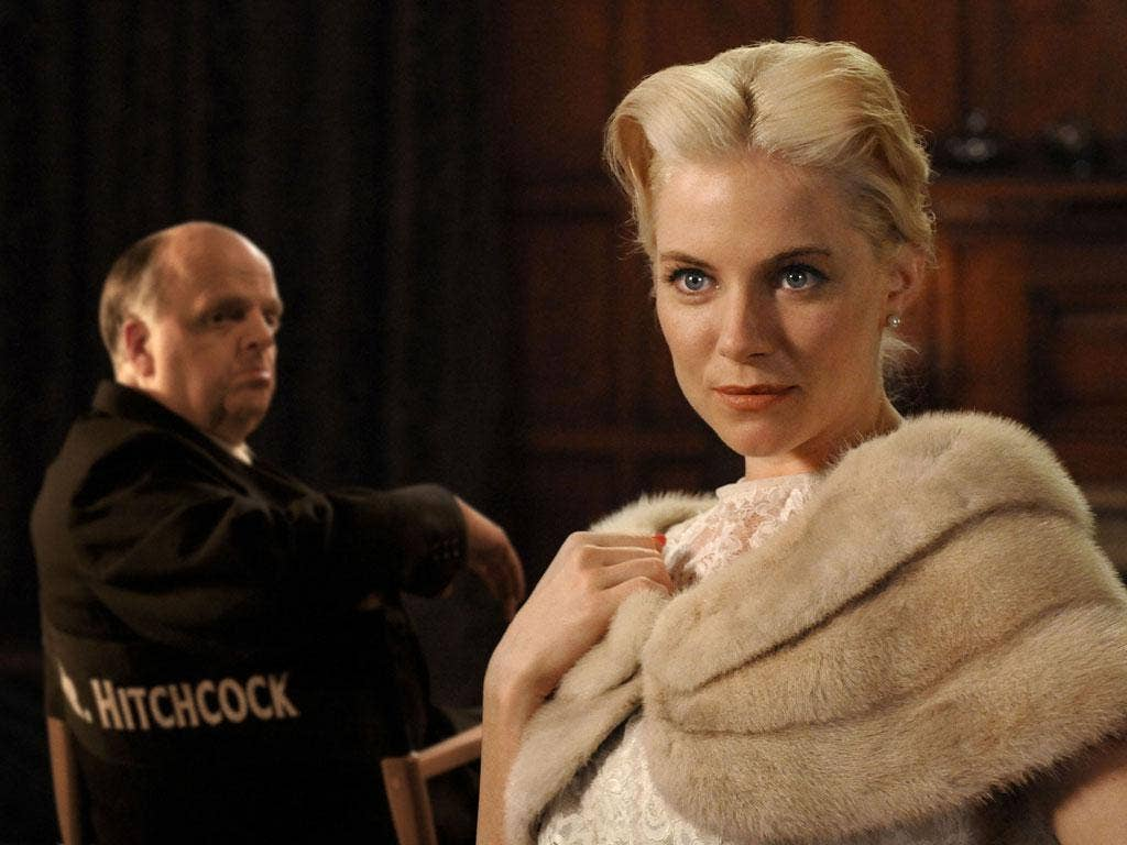 Hitch trials: Toby Jones as Alfred Hitchcock and Sienna Miller as the actress Tippi Hedren