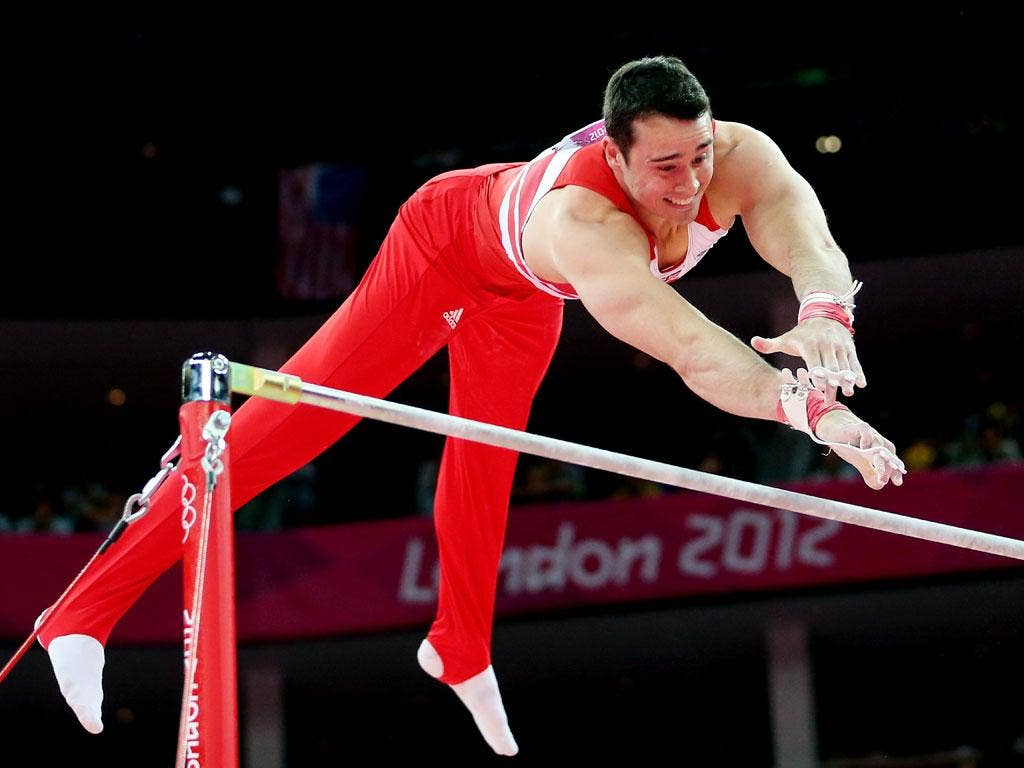 Handing over: 'The future for the men's side looks really positive,' says Kristian Thomas of the Olympic legacy