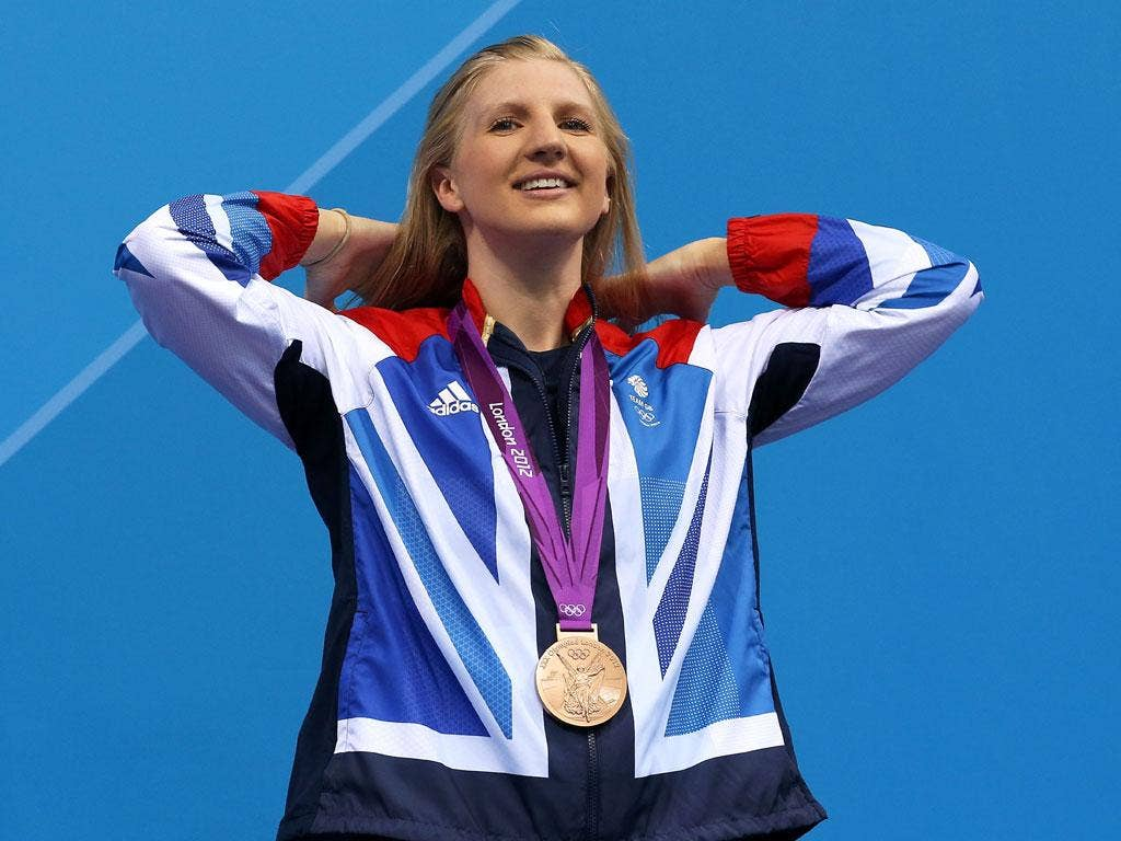 Rebecca Adlington won two bronze medals at London 2012