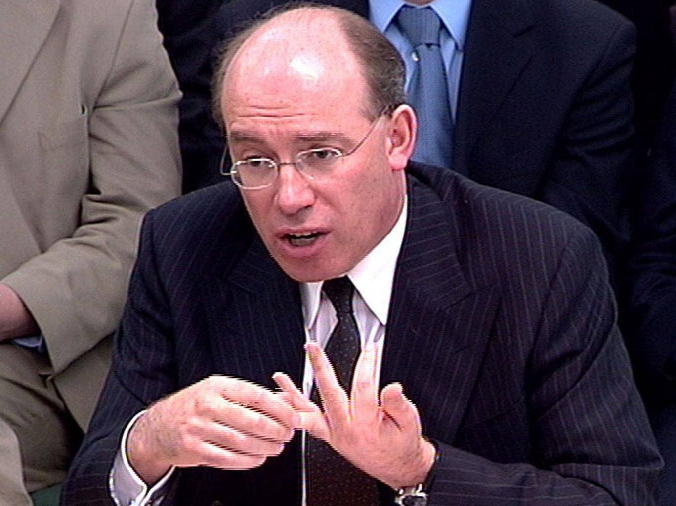 James Crosby during a Treasury Select Committee meeting