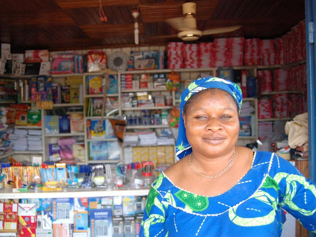 The owner of the Sheriff Stationary and General Goods store in Assin Foso