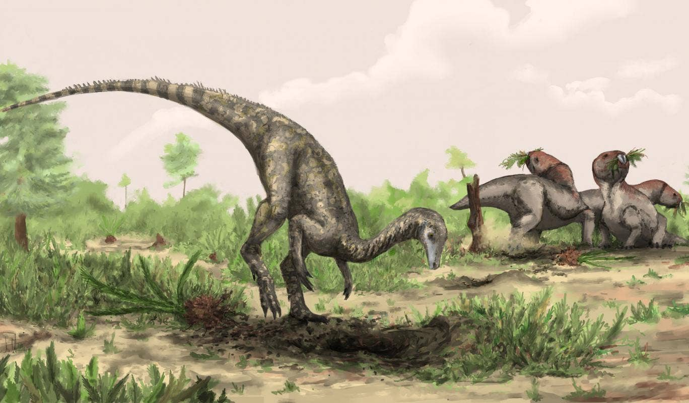 An artist's impression of Nyasasaurus, which lived in the Triassic period in what is now Tanzania