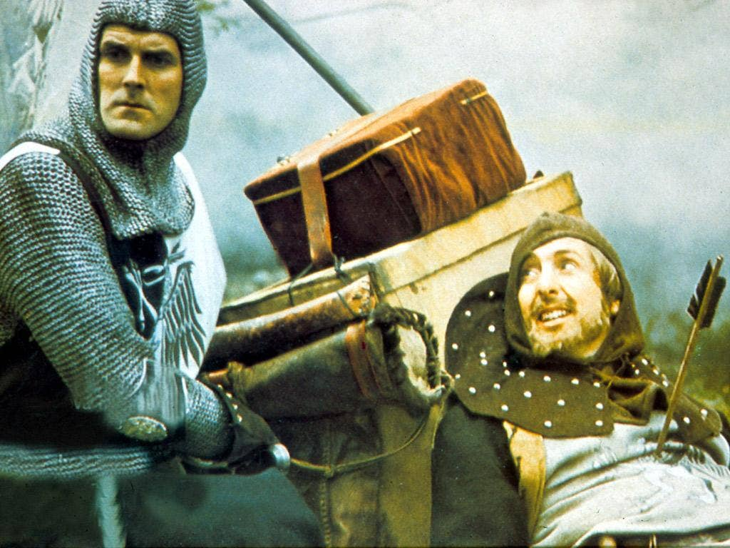 John Cleese and Eric Idle in 'Monty Python And The Holy Grail'