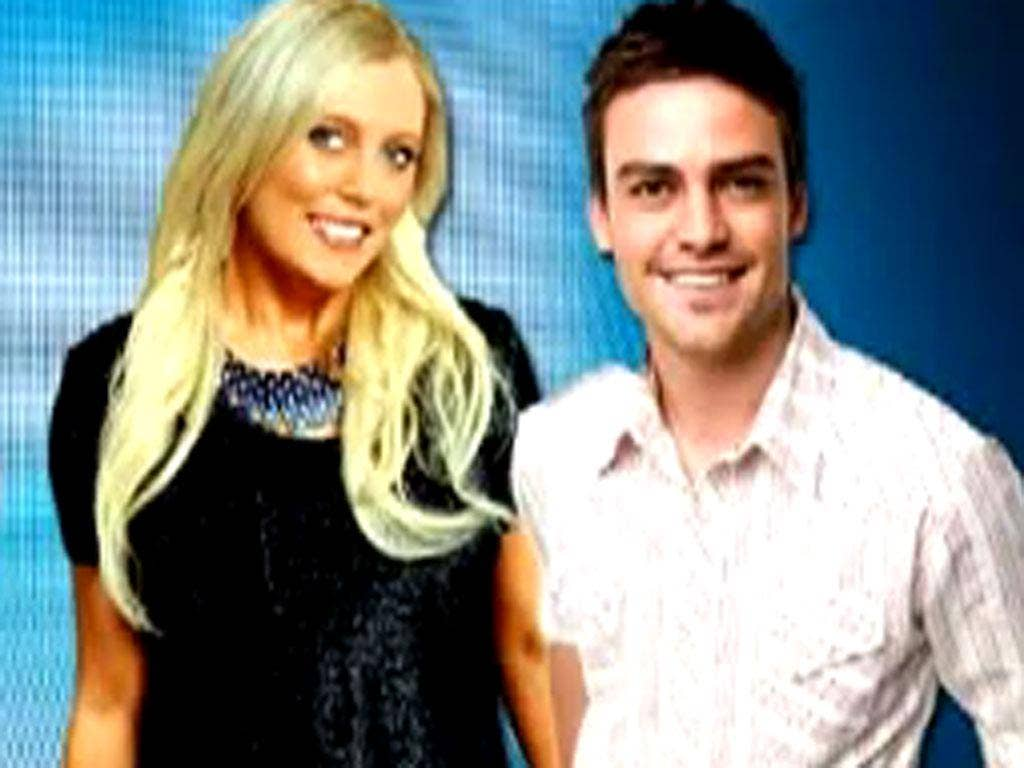 Mel Greig (left) and Michael Christian (right), Australian 2Day FM presenters