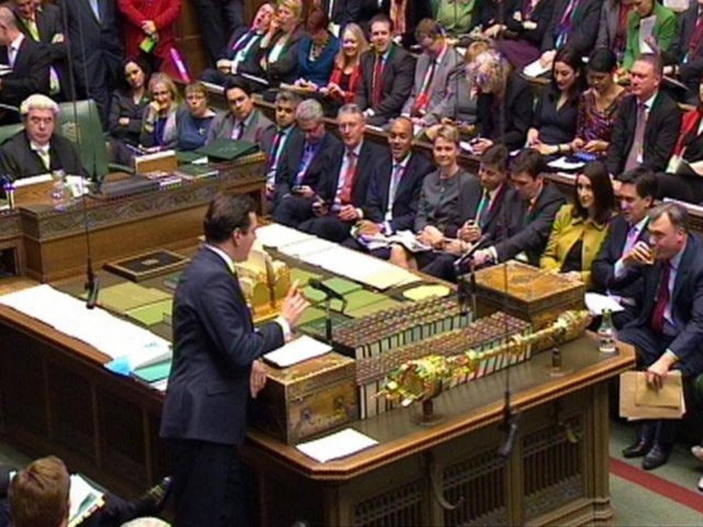 Chancellor of the Exchequer Georger Osborne delivers his Autumn Statement to MPs in the House of Commons