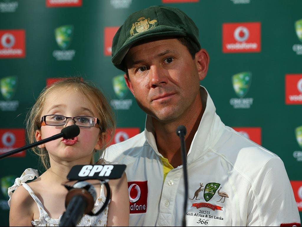 """Daddy, does this mean I won't have to stay up past my bed time to see you get beaten in the Ashes again?"" (07/12/12) <br/><br/> <a href=""http://www.independent.co.uk/captions"" target=""new"">To enter the current caption competition, click here.</a>"
