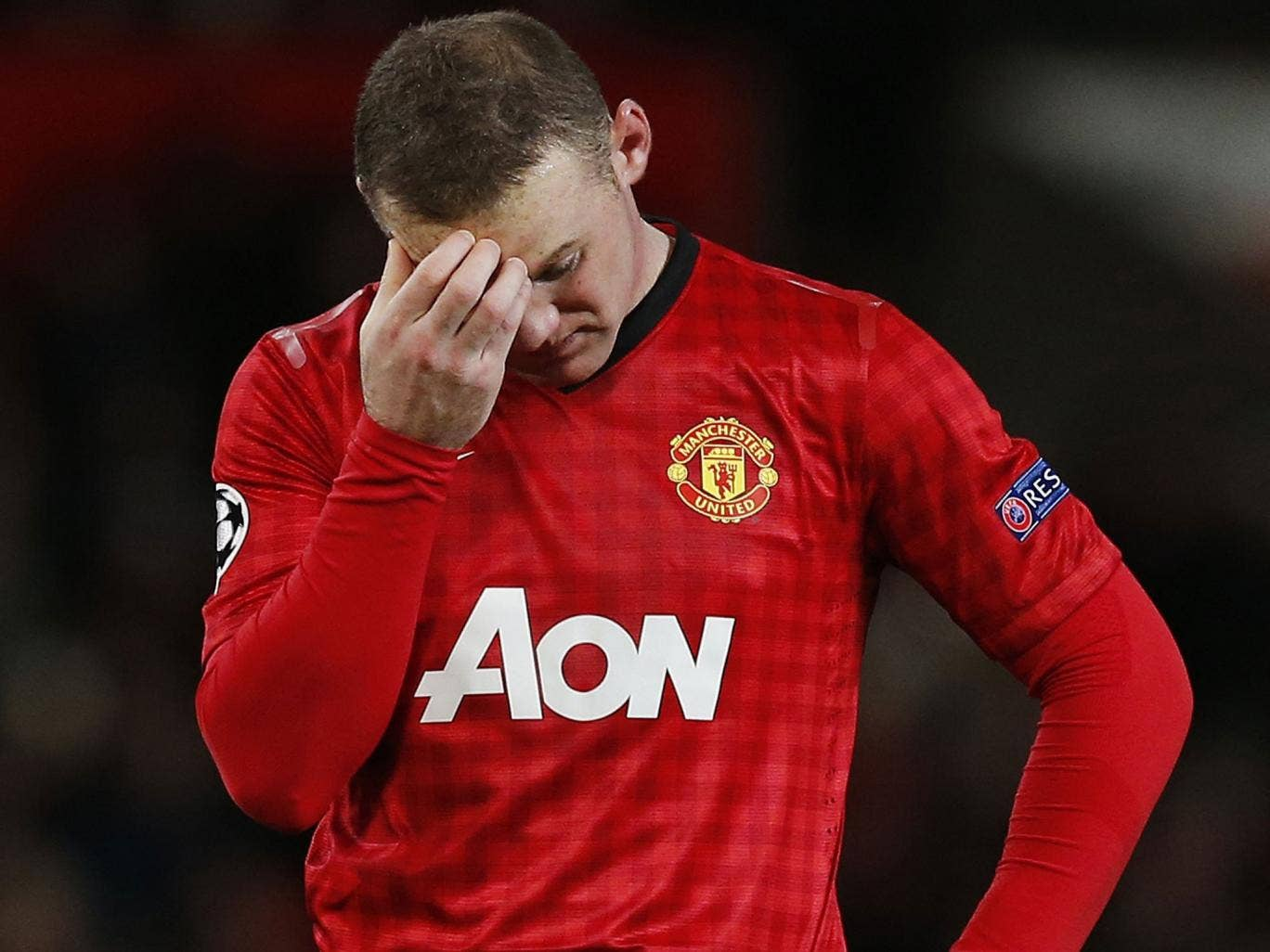 Wayne Rooney struggled in the defeat by Cluj