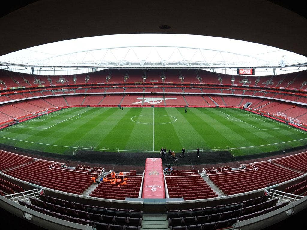 A general view of Emirates Stadium