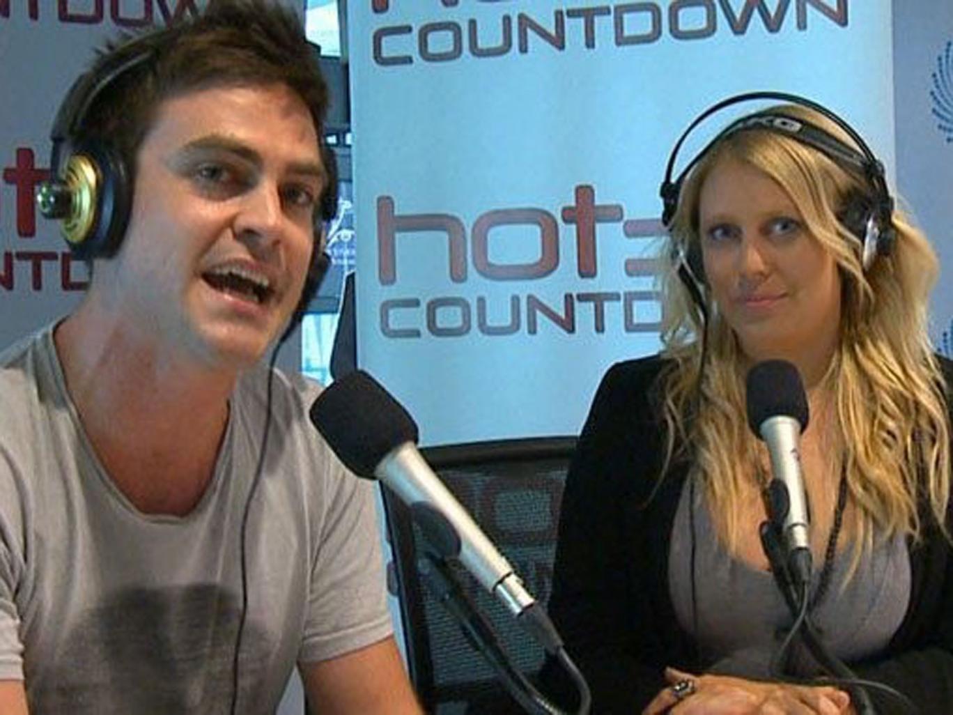 Australian DJs Michael Christian and Mel Greig of 2Day FM radio