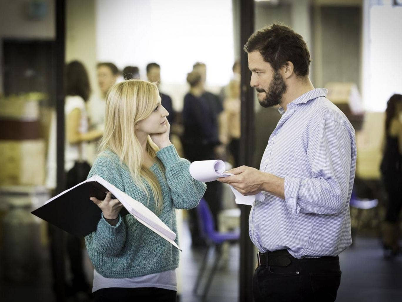 He's grown accustomed to her face: Carly Bawden and Dominic West in rehearsals for 'My Fair Lady'