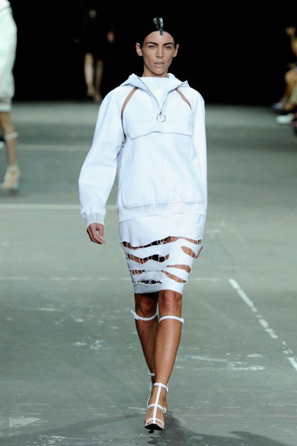 Liberty Ross walks the runway at the Alexander Wang Spring 2013 fashion show