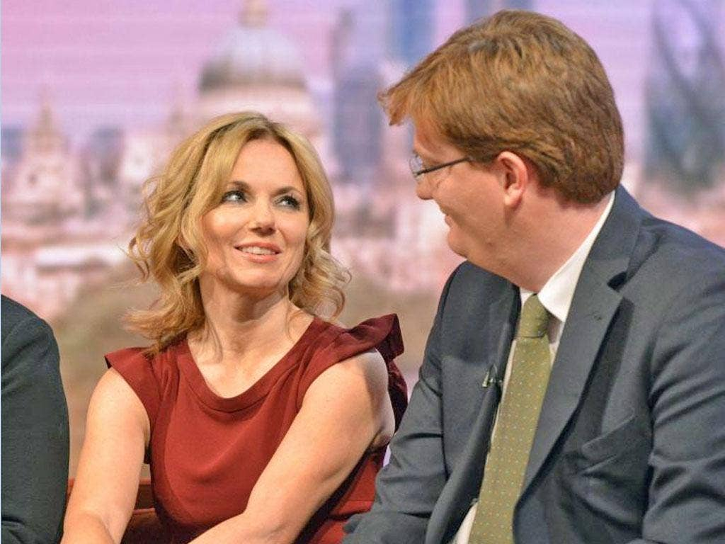Geri Halliwell and Danny Alexander on The Andrew Marr Show yesterday