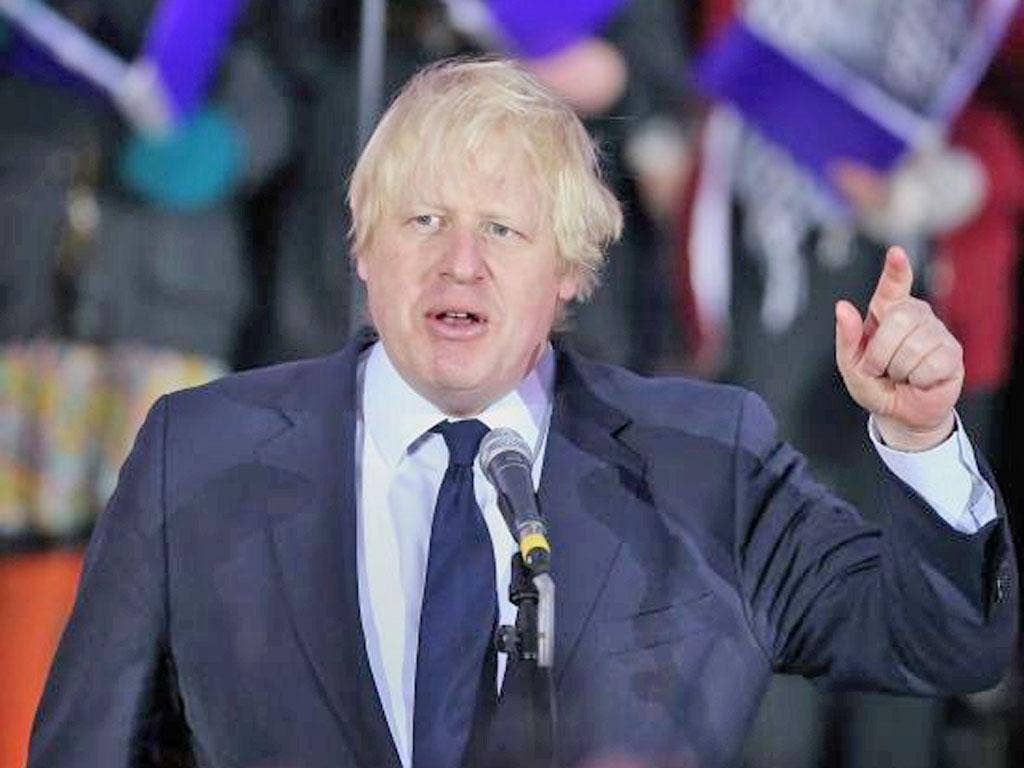 The London Mayor, Boris Johnson, told the Prime Minister to 'whack it through'