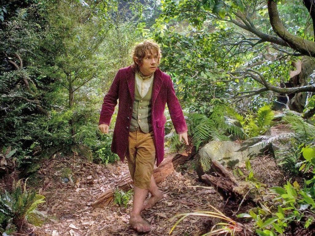 Engaging: Martin Freeman as Bilbo Baggins in the first film of the Hobbit trilogy