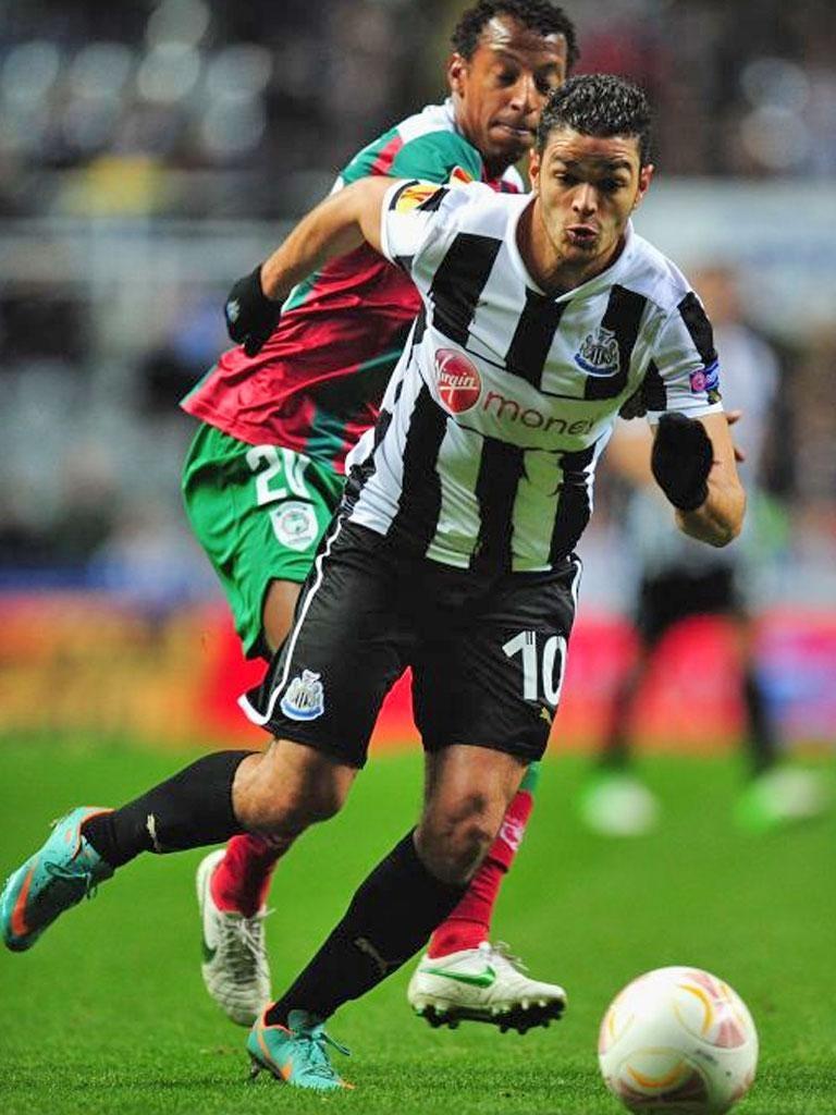 Newcastle's Hatem Ben Arfa turns on the style