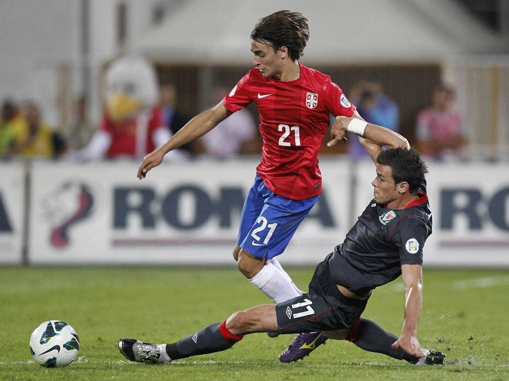 Lazar Markovic in action for Serbia