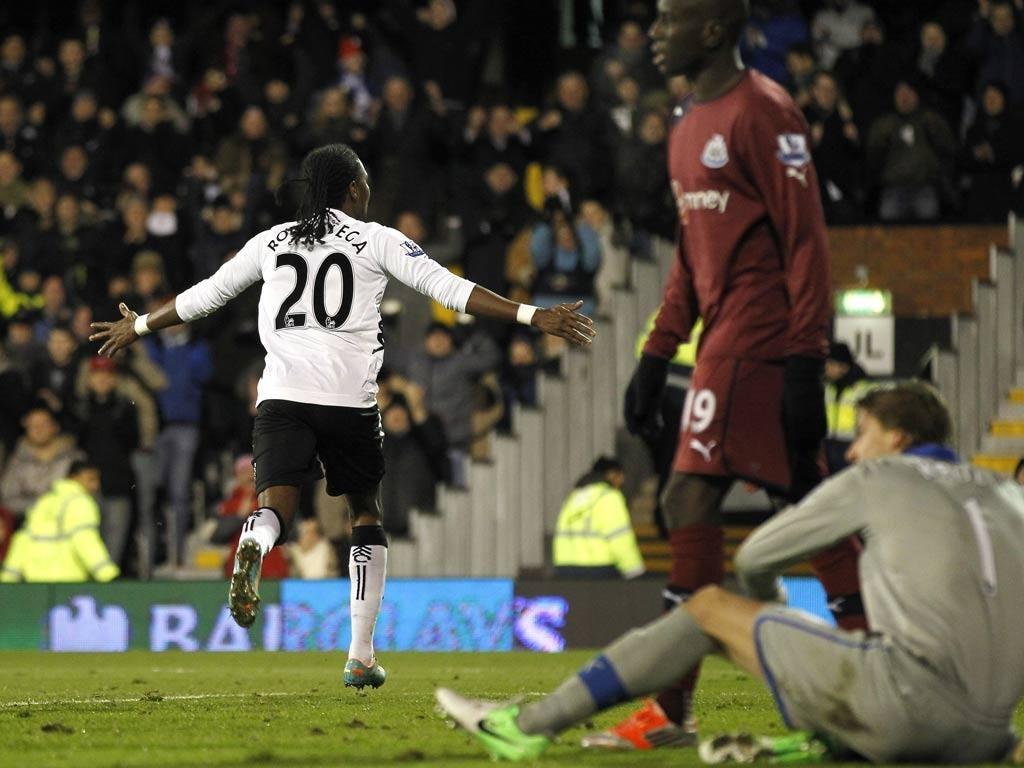 Hugo Rodallega celebrates his goal against Newcastle