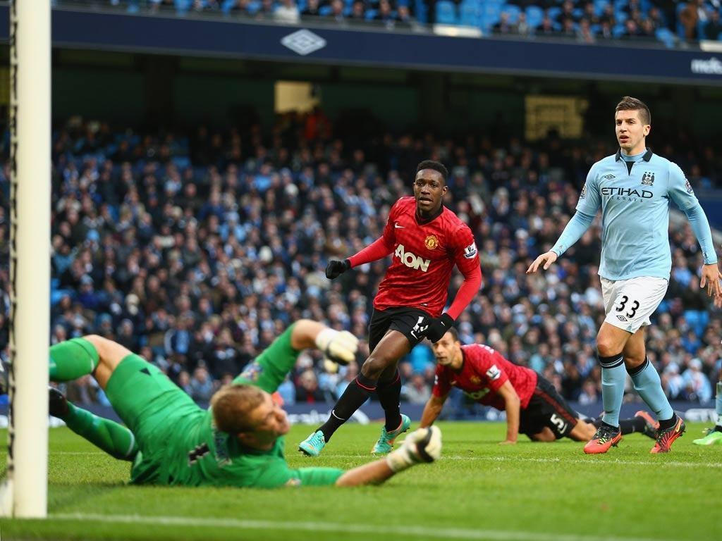 Joe Hart was blamed for United's third goal