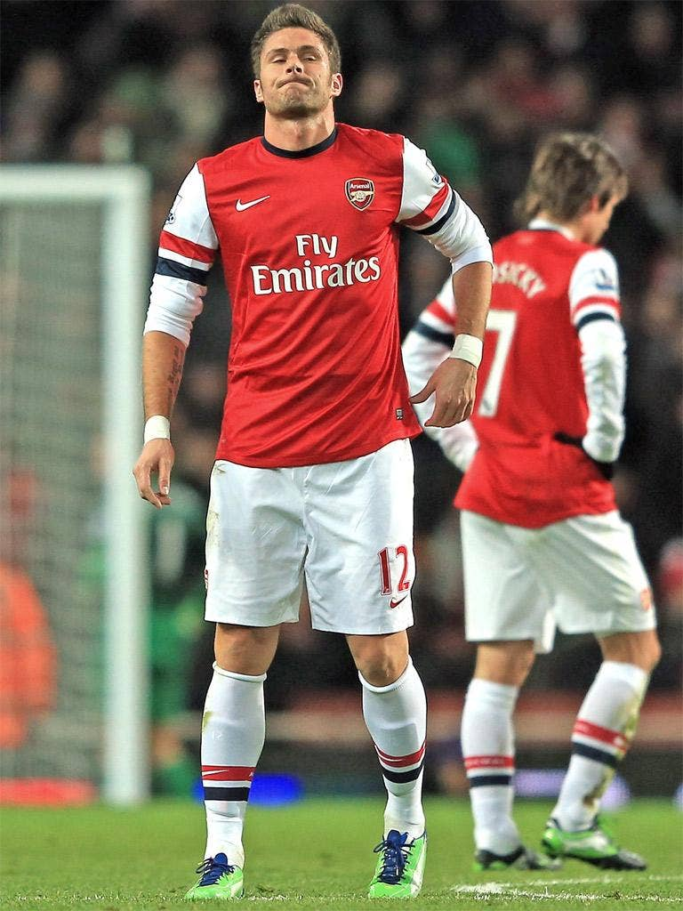 Olivier Giroud has failed to make much of an impact for Arsenal since he was signed by Arsène Wenger last summer