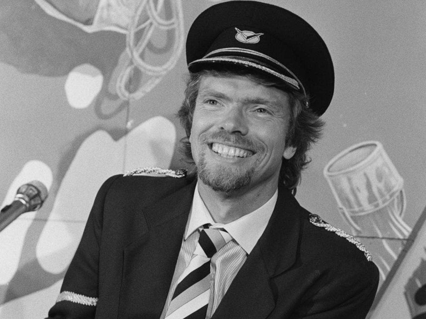 Virgin flier: Richard Branson in 1984
