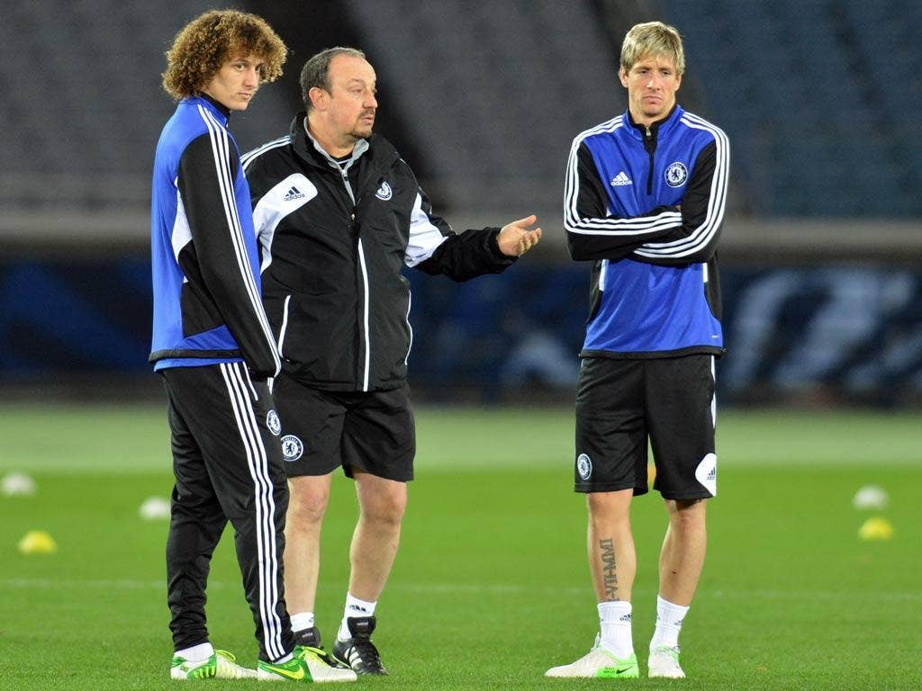 """Rafael Benitez: """"There's no point sulking, Fernando, you've got me for at least another week!"""" (14/12/12) <br/><br/> <a href=""""http://www.independent.co.uk/captions"""" target=""""new"""">To enter the current caption competition, click here.</a>"""