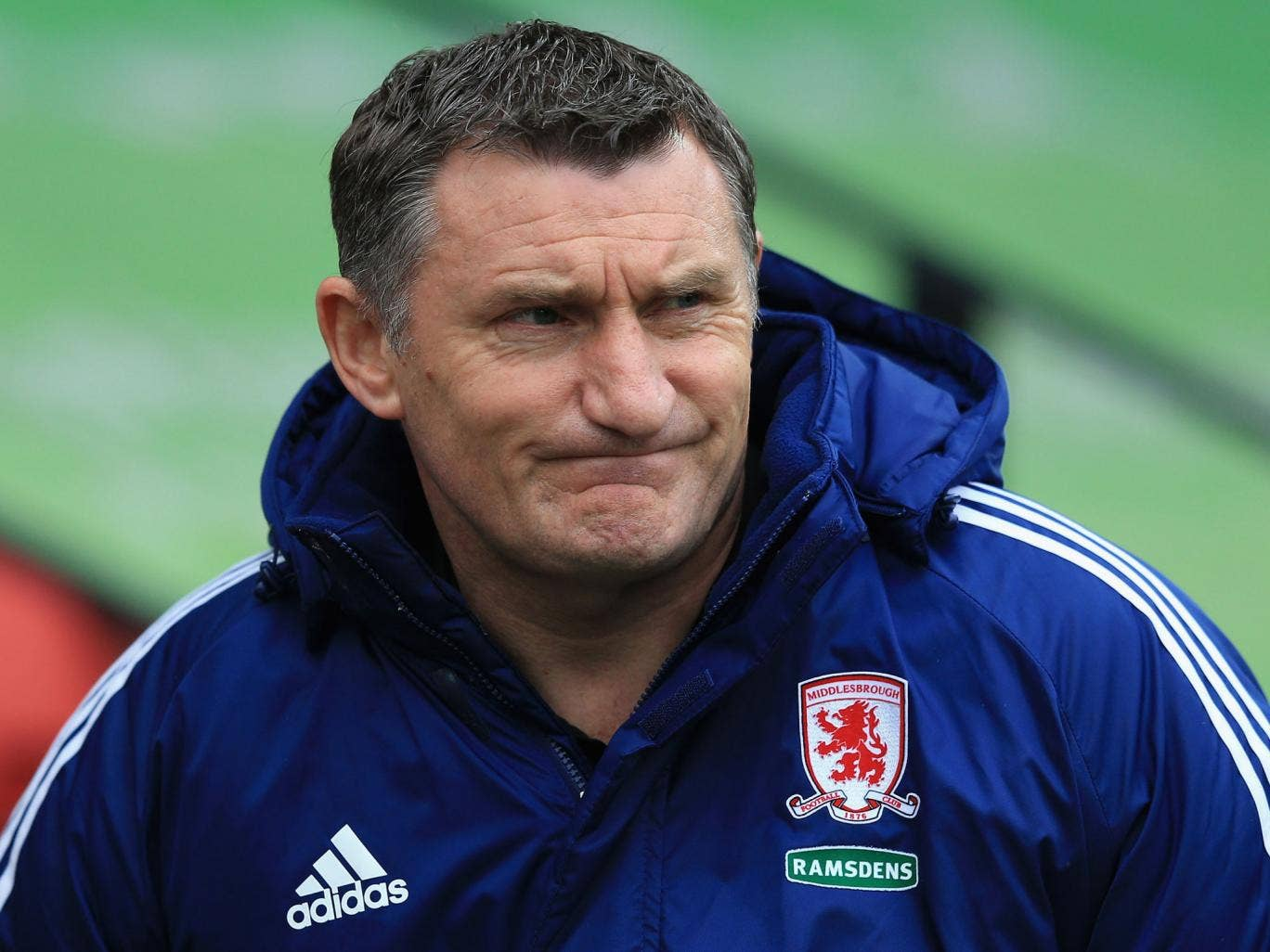 Boro manager Tony Mowbray looks on during the npower Championship match between Watford and Middlesbrough