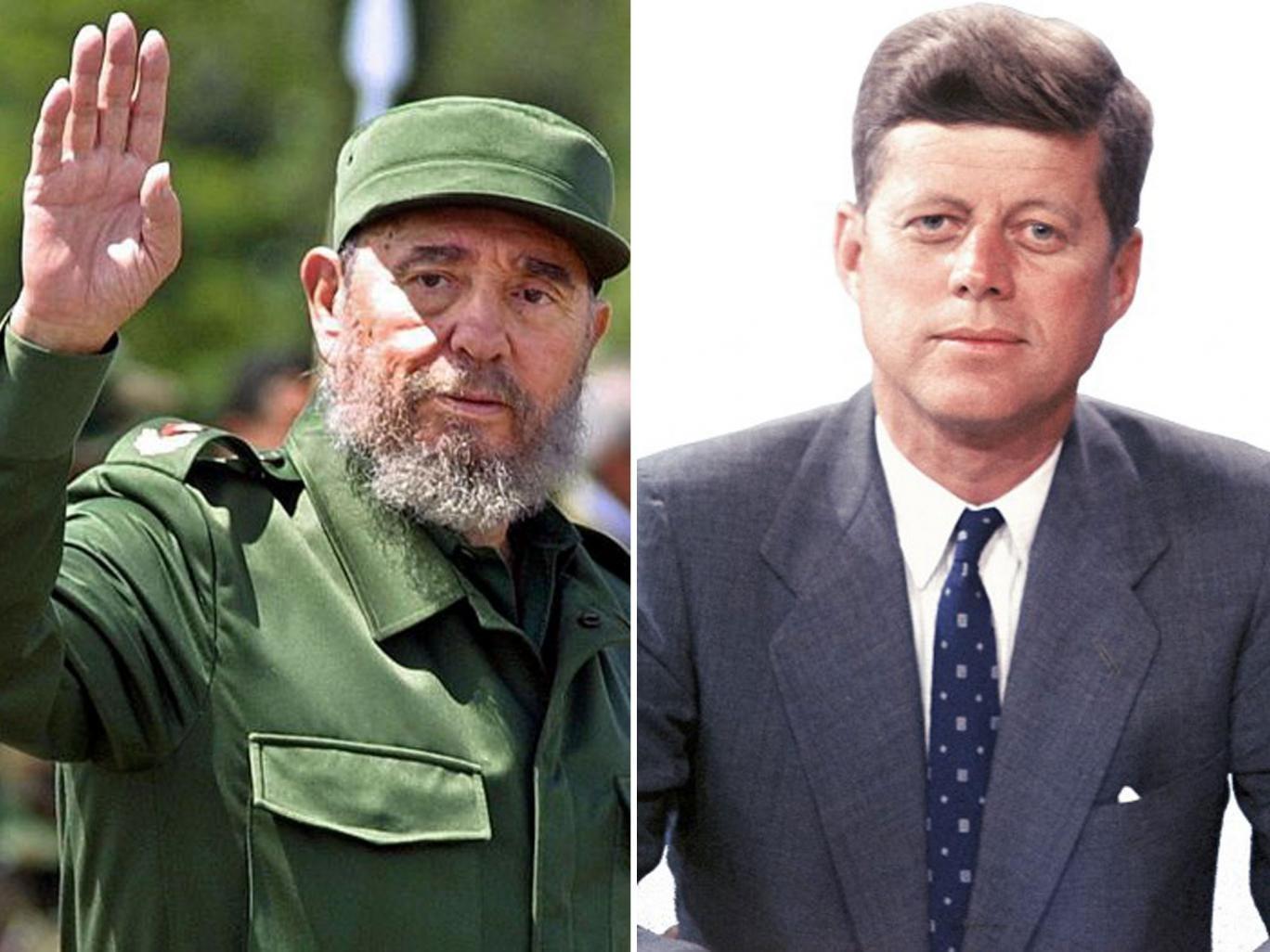 Fidel Castro and John Kennedy