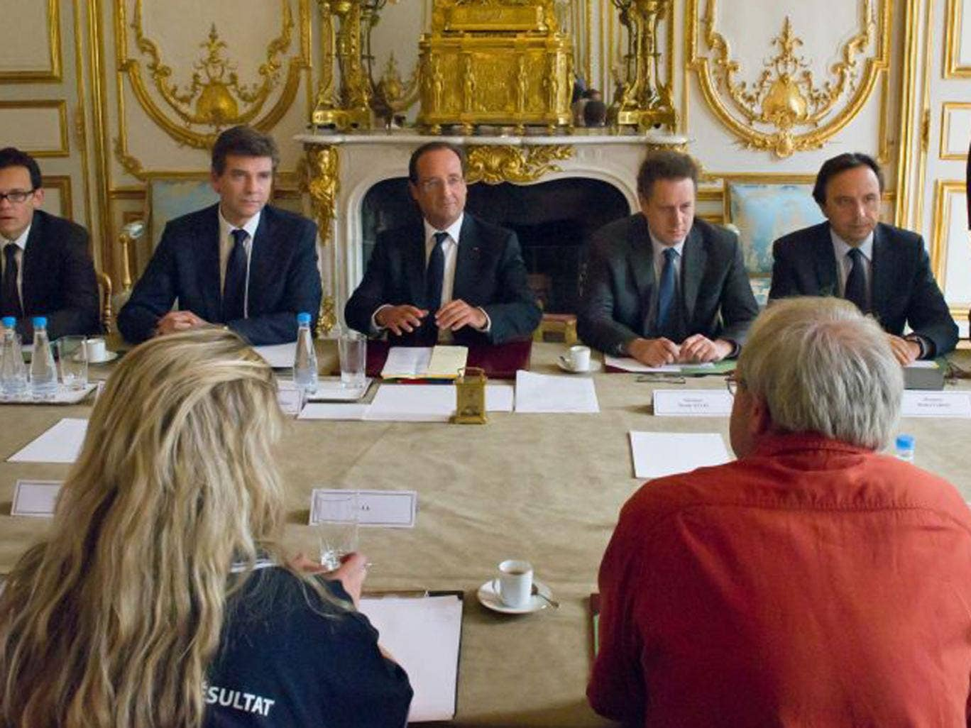 President Hollande has insisted on one particular brand to be used at all Cabinet meetings