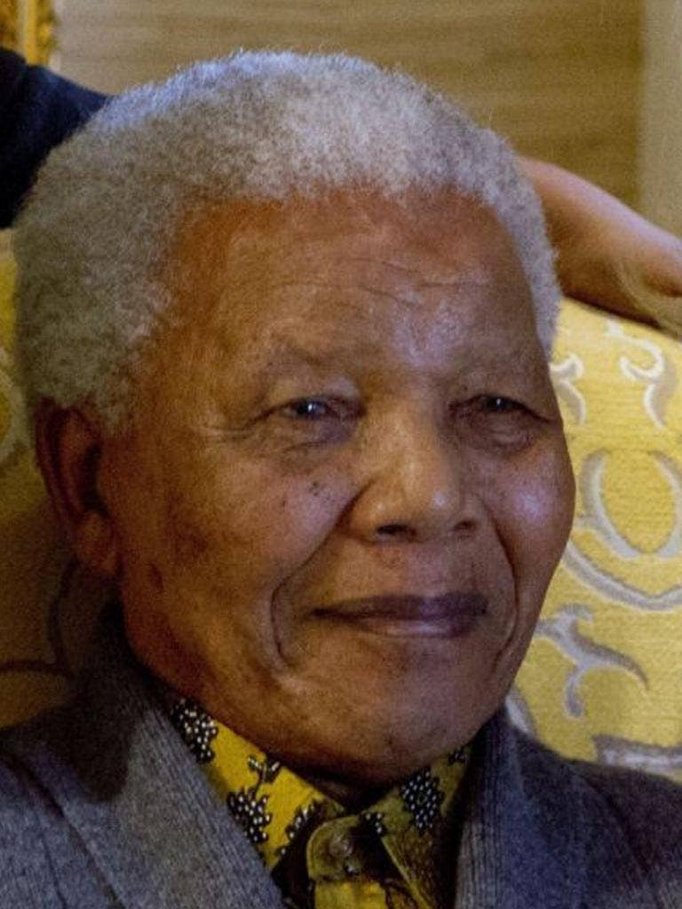Nelson Mandela pictured in August