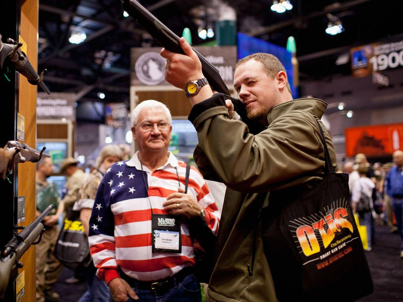 Sure shots: Testing the latest weaponry at a National Rifle Association fair