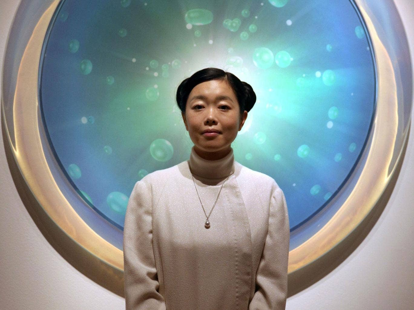 Too sincere: Mariko Mori in front of her Connected World
