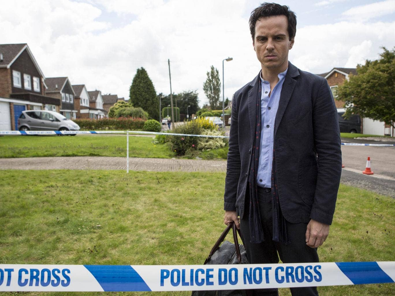 Son's return: Andrew Scott's Mark is faced with tragedy in his home town