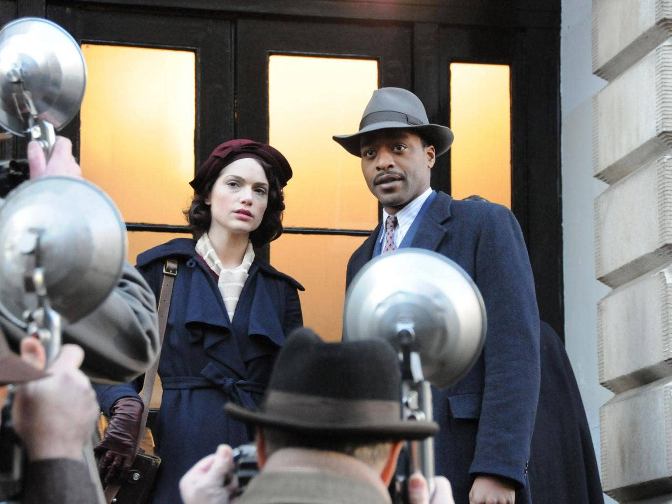 Hats off: The 1930s drama stars Janet Montgomery and Chiwetel Ejiofor