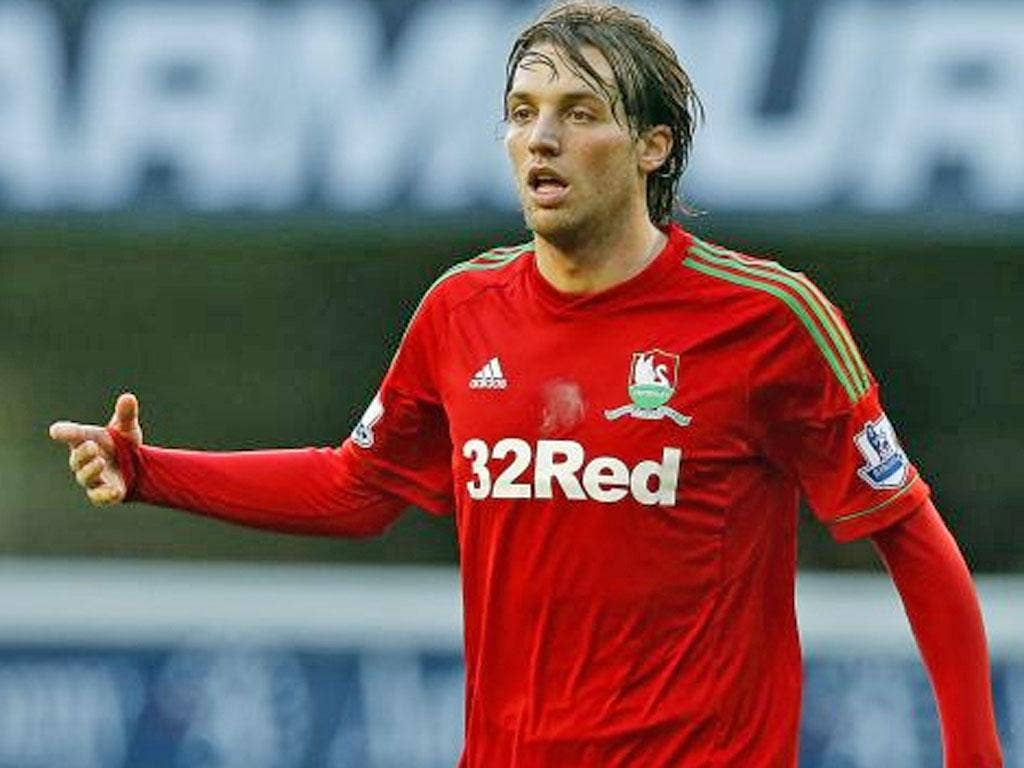 The Swansea City striker Michu, whose injury at White Hart Lane prompted controversy, later recovered to finish the game
