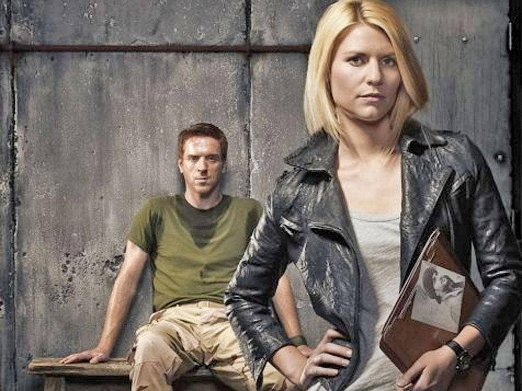 Damian Lewis and Claire Danes, the stars of Homeland