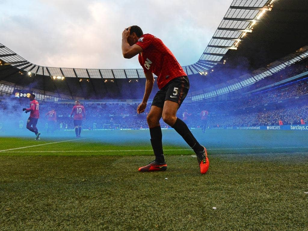 """<b>Rio Ferdinand</b> was surprisingly jovial on Twitter after being hit with a coin during the Manchester derby...<br/><br/> '""""Whoever threw that coin, what a shot! Can't believe it was a copper 2p....could have at least been a £1 coin!"""""""